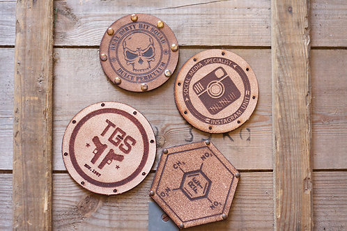 Custom Leather Logo Patches