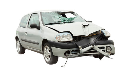 car accident isolated on white backgroun