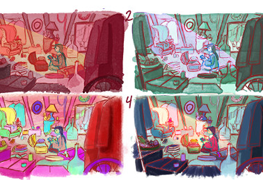 Attic Pass 2: Color Tests