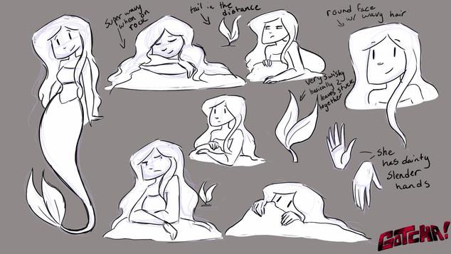 "Crystal ""Mermaid"" Expression sheet"