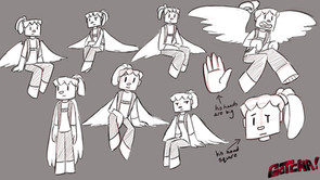 "Jaheem ""Bird Boy"" Expression Sheet"