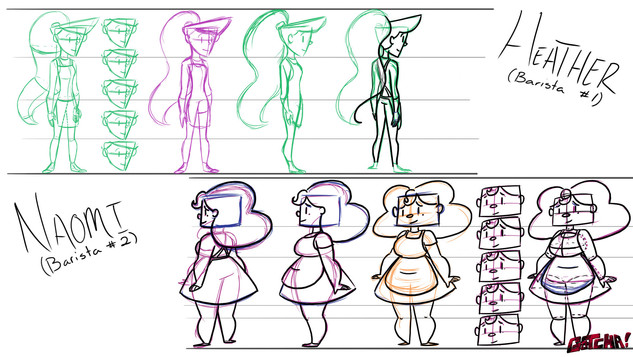 Heather and Naomi Model Sheets