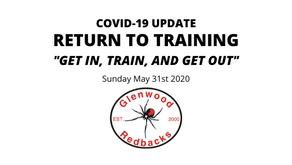 RETURN TO TRAINING: Monday June 1st 2020