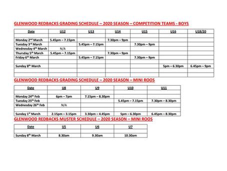 Grading Schedule
