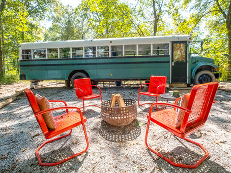 Our Skoolie Was Featured in Travel+Leisure!