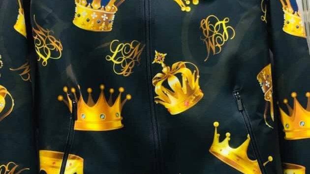 Casaco de homem coroa preto