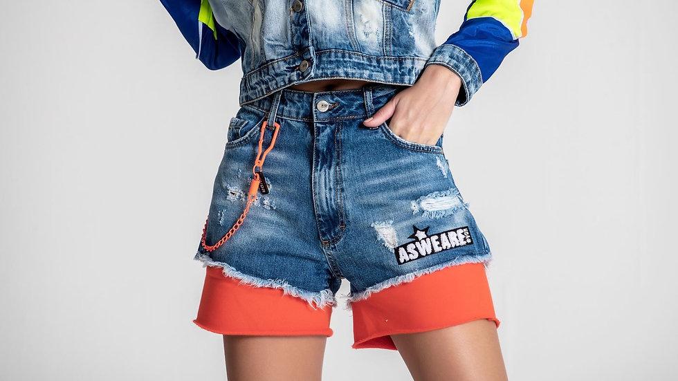 Shorts Blu/Orange