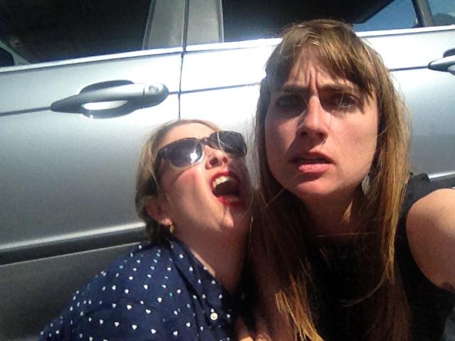 On set selfie