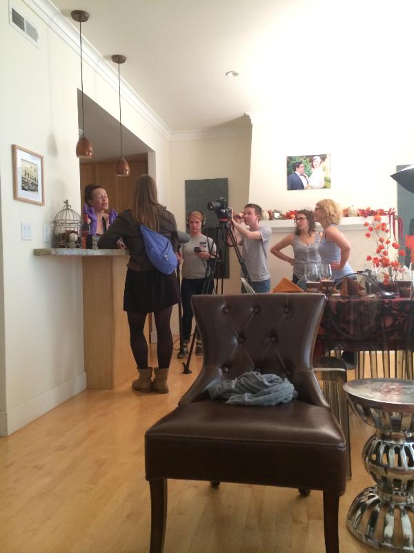 Filming Friendsgiving