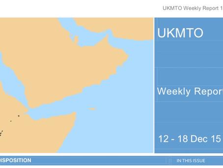 UKMTO Report 12th - 18th Dec