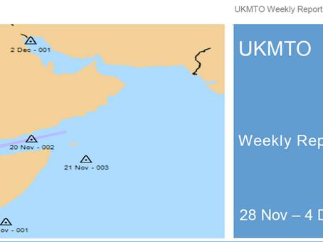 UKMTO Weekly report 28 Nov - 5 Dec 2015