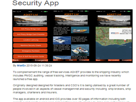 ASKET Launches Free Maritime Security App
