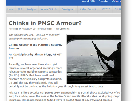 Chinks Appear in the Maritime Security Armour?