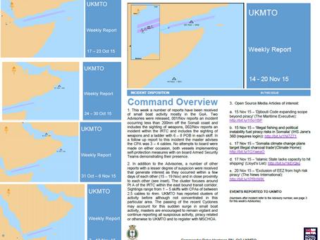 UKMTO Weekly Piracy Report 14 - 20 Nov 15