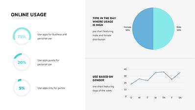 Blue and White Analytic Dashboard Presen