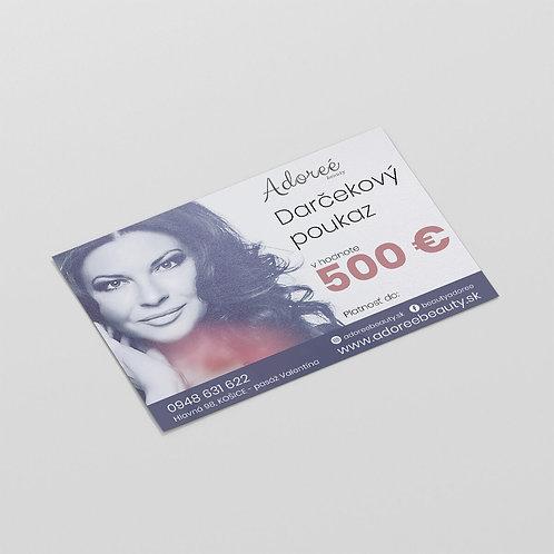 Darčeková poukážka v hodnote 500 eur