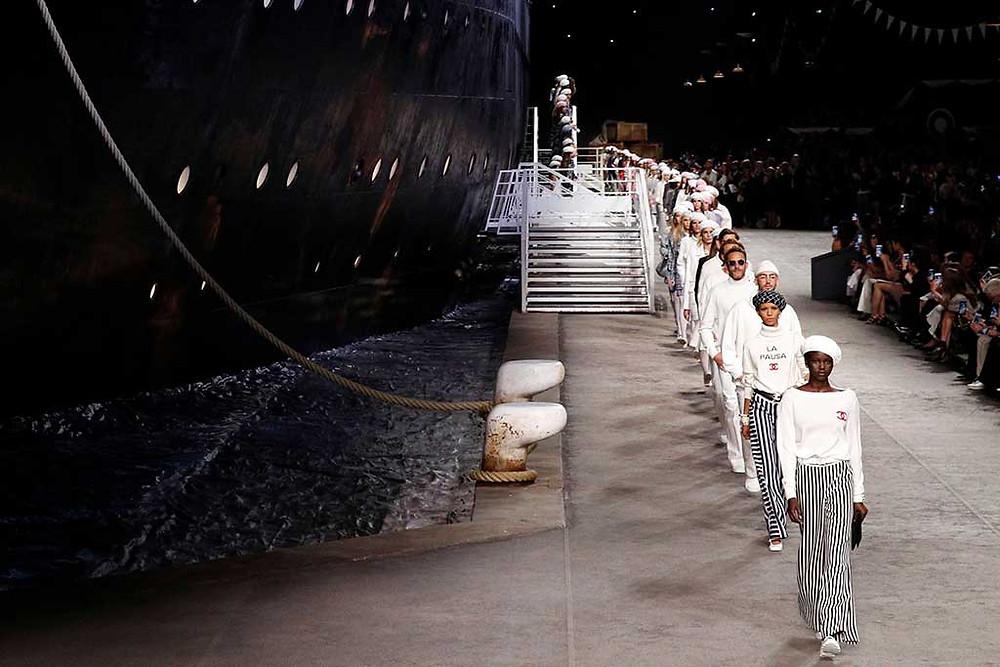 Models on deck