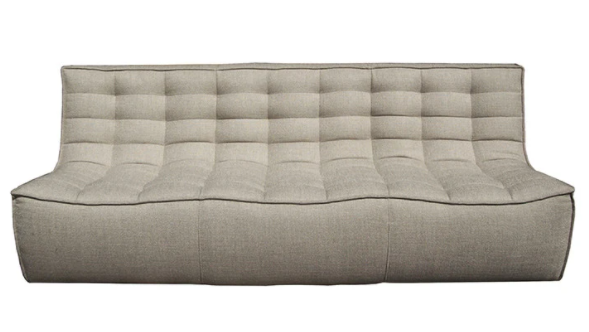 Ethnicraft soft beige 3 seater