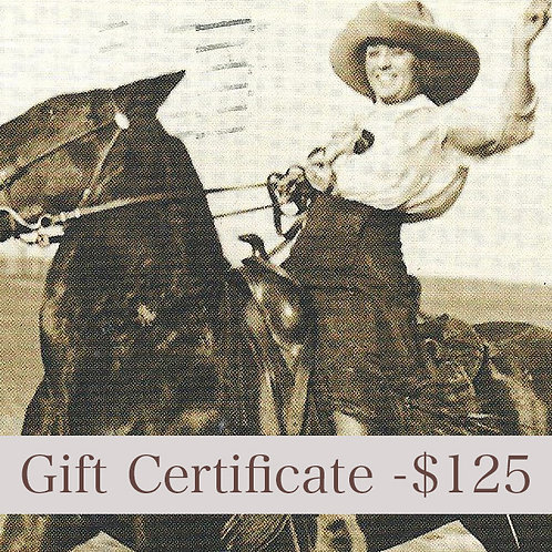 $125 - Gift Certificate