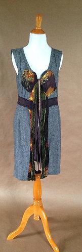 Woolen flecked open tunic