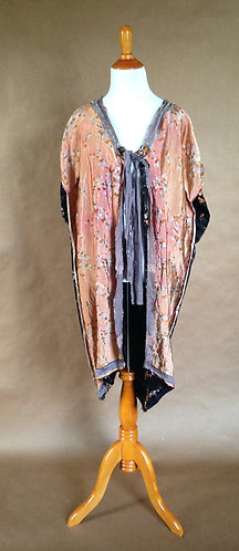 Orange or Black China Silk Jacket
