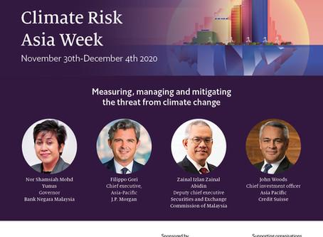 The Economist: Climate Risk Asia Week (30 Nov - 4 Dec 2020)