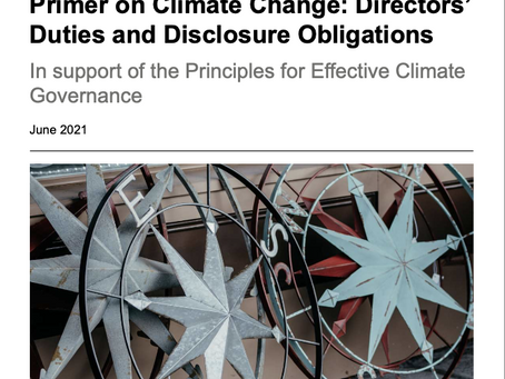As climate crisis reshapes business, board directors must rethink legal duties