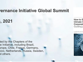 Global Summit of the Climate Governance Initiative launching today!