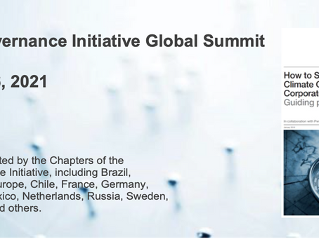 Inaugural Climate Governance Initiative Global Summit (23-26 March 2021)