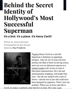Cover story: Henry Cavill - DU JOUR