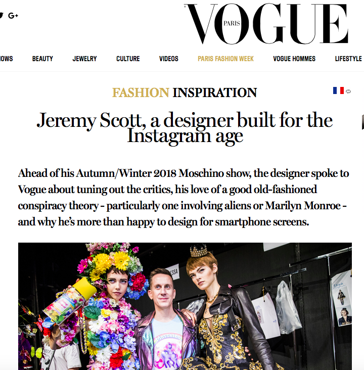 Jeremy Scott interview - VOGUE INTERNATIONAL