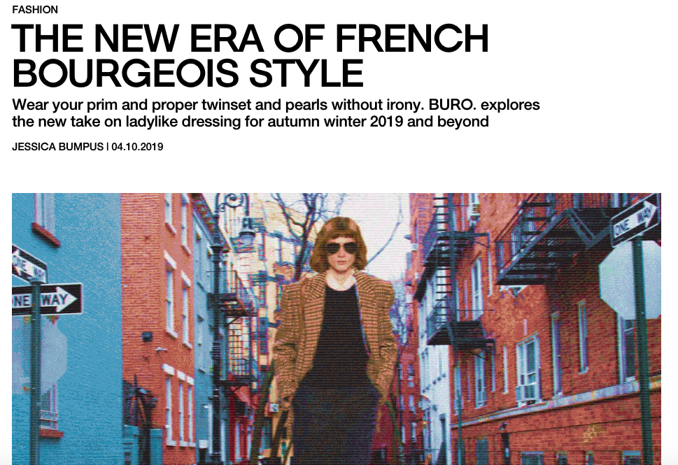 The New Era of French Bourgeois Style - BURO OCTOBER 2019