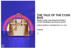 The Tale of The £125k Bag - BURO DECEMBER 2019