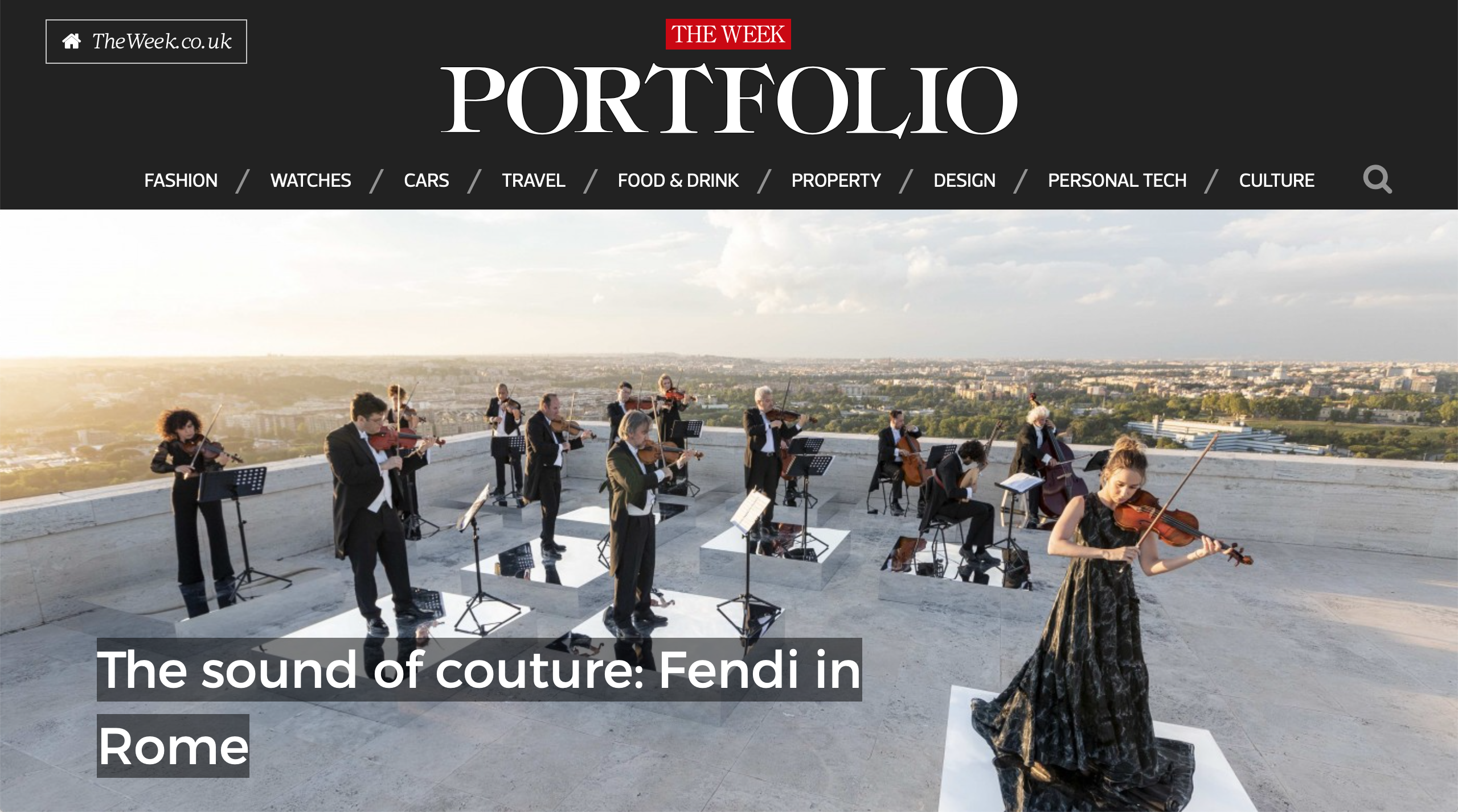 The Sound of Couture: Fendi in Rome - THE WEEK FASHION June 2020