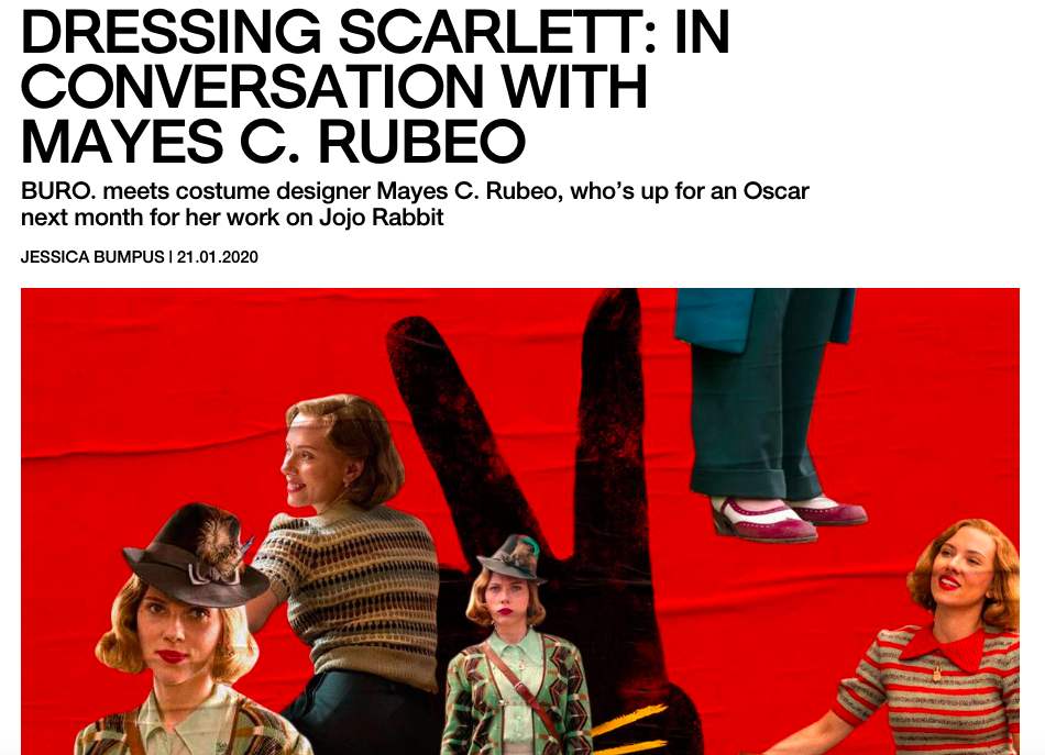 Dressing Scarlett: In Conversation with Mayes C. Rubeo - BURO JANUARY 2020