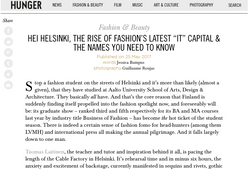 "Helsinki, The Rise of Fashion's Latest ""It"" Capital - HUNGER"