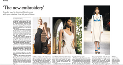 'The New Embroidery' - INTERNATIONAL NEW YORK TIMES, November 2020 (print)