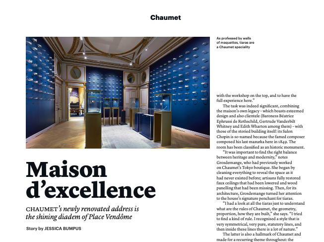 Chaumet Re-opens at Place Vendome - THE WEEK TIME & JEWELS MARCH 2020