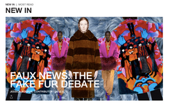 Faux News: The Fake Fur Debate - BURO OCTOBER 2019