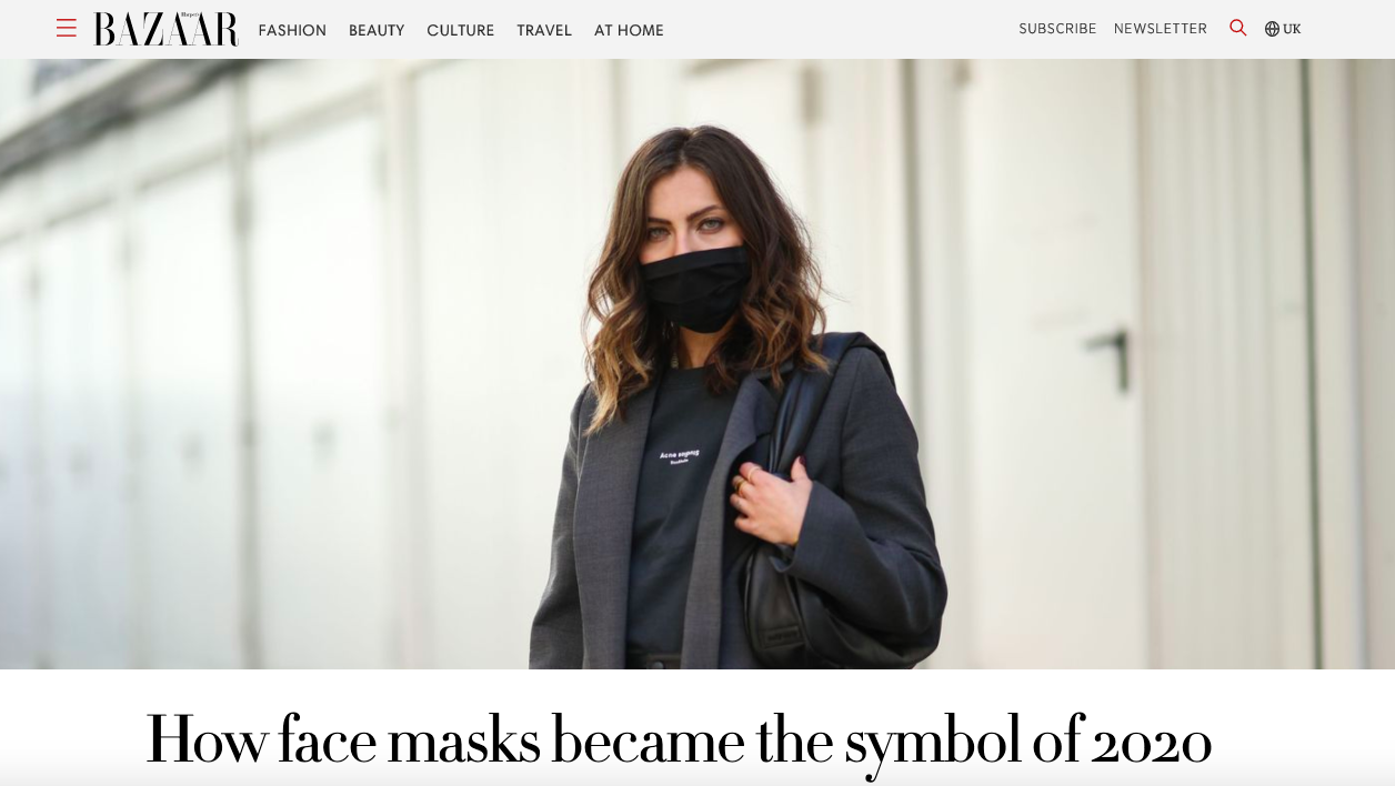 How Face Masks Became The Symbol of 2020 - HARPER'S BAZAAR UK, August 2020