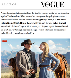 Why Are we so Obsessed with the American West? - VOGUE INTERNATIONAL
