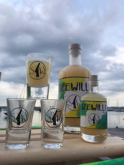"4x Seewilli Glas ""Stamperl"" 2cl"