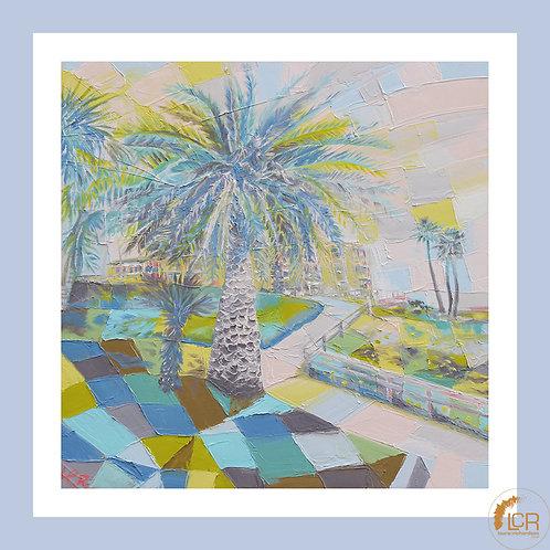 Pismo Beach Palm: 8'' x 8'', Framed