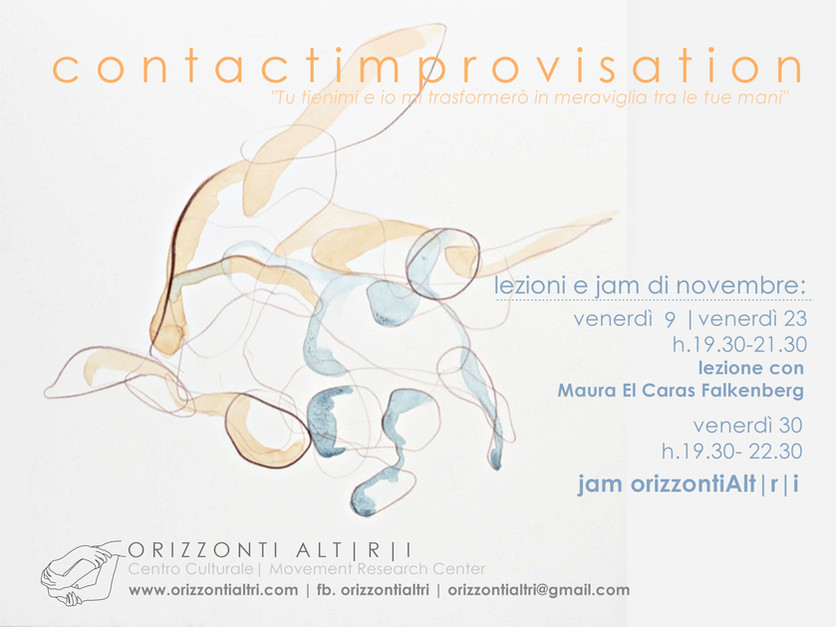 Contact Improvisation Firenze | lezioni e jam di novembre