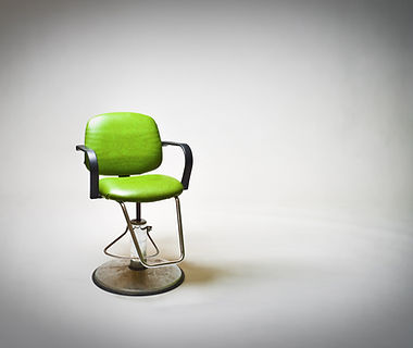 Green vintage vinyl covered barbershop o