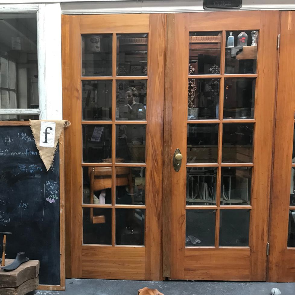 Old wood/iron bank door