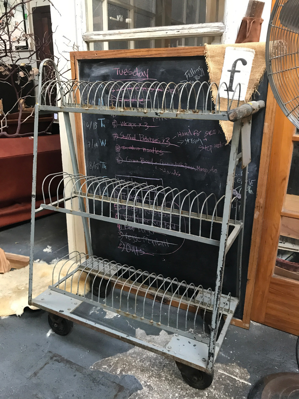 Antique Motion Film Canister Cart