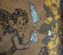 tapestry: angel and crystal