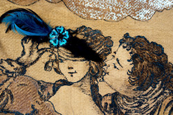 tapestry: lady with a feather mask