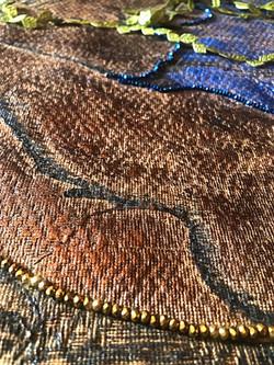 tapestry: lady's dress